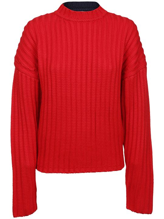 Jil Sander Navy Cable Knit Sweater
