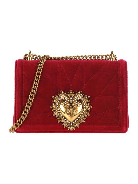 Dolce & Gabbana Dolce&gabbana Medium Devotion Crossbody Bag In Quilted Velvet