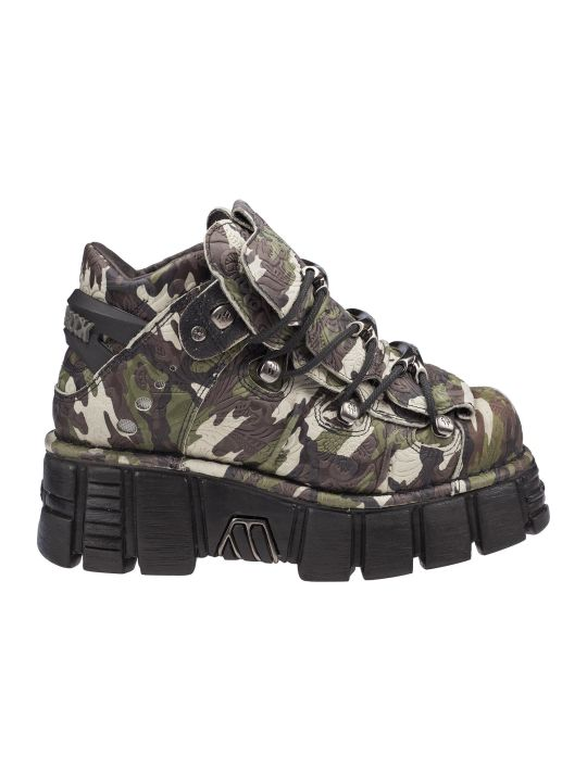 New Rock Camouflage Platform Sneakers