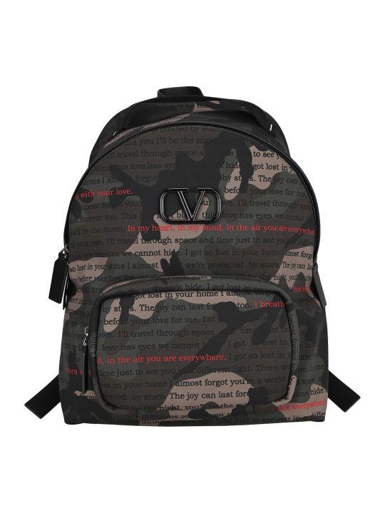 Valentino Garavani Vlogo Camouflage Print Backpack