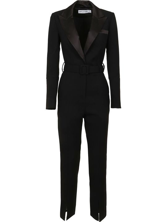 self-portrait Tailored Crepe Jumpsuit
