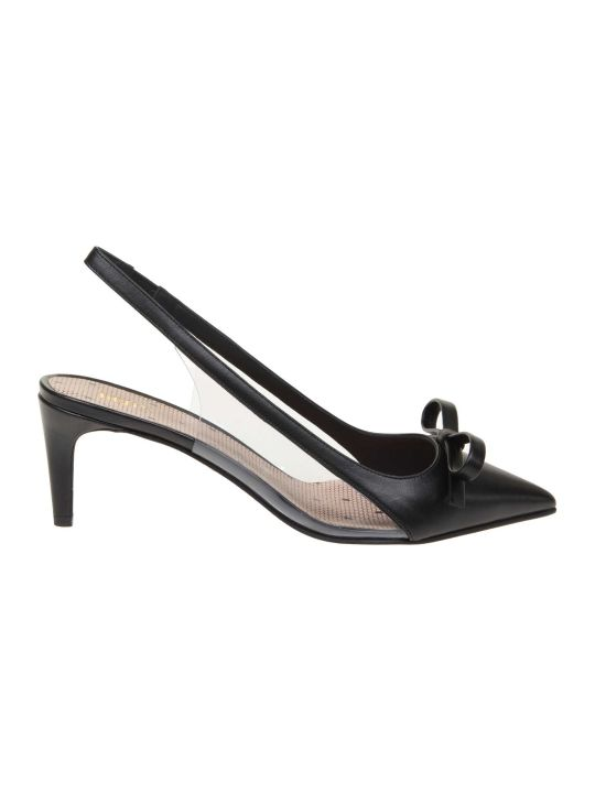 RED Valentino Slingback Leather Sandie Color Black