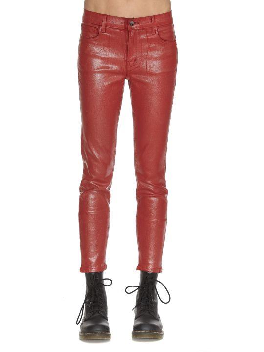 J Brand Mid Rise Crop Skinny Jeans