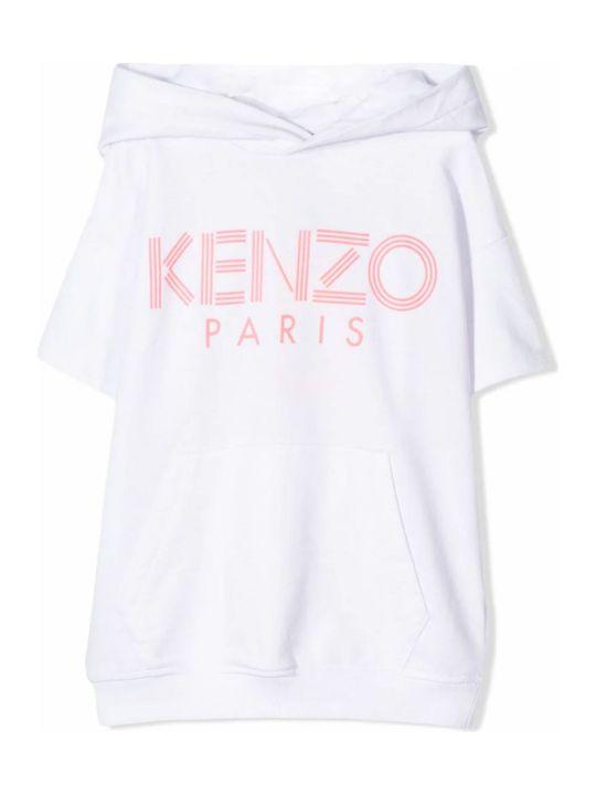 Kenzo White Cotton Blend Hoodie