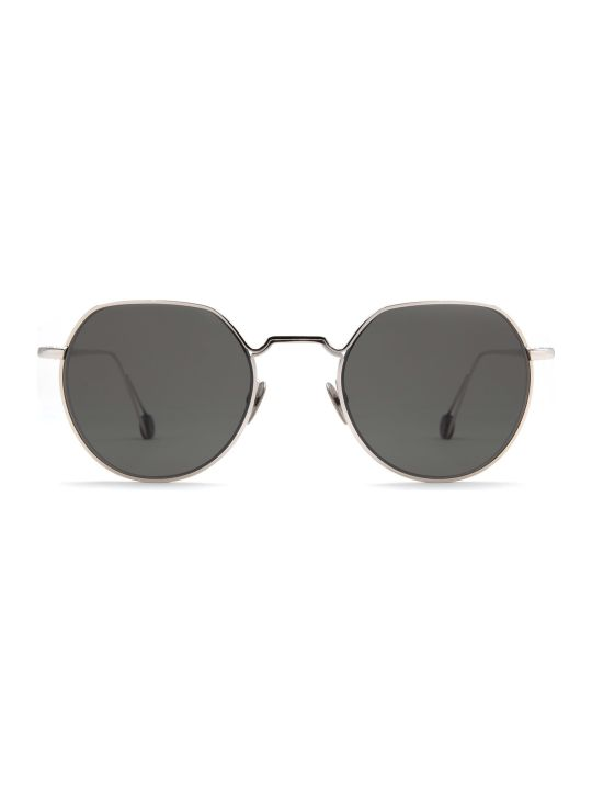 AHLEM Ahlem Place Dauphine White Gold Sunglasses