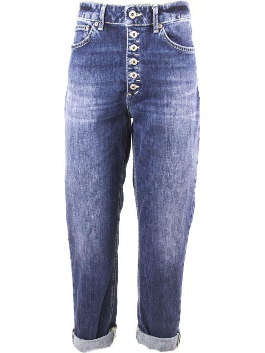 Dondup Loose Fit Blue Cotton Jeans