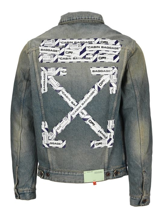Off-White Off White Airport Tape Denim Jacket