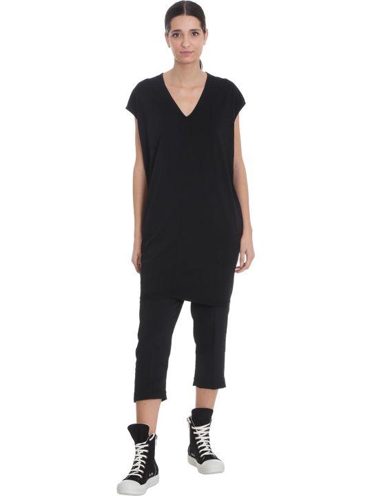 DRKSHDW V Jumbo Tunic Dress In Black Cotton