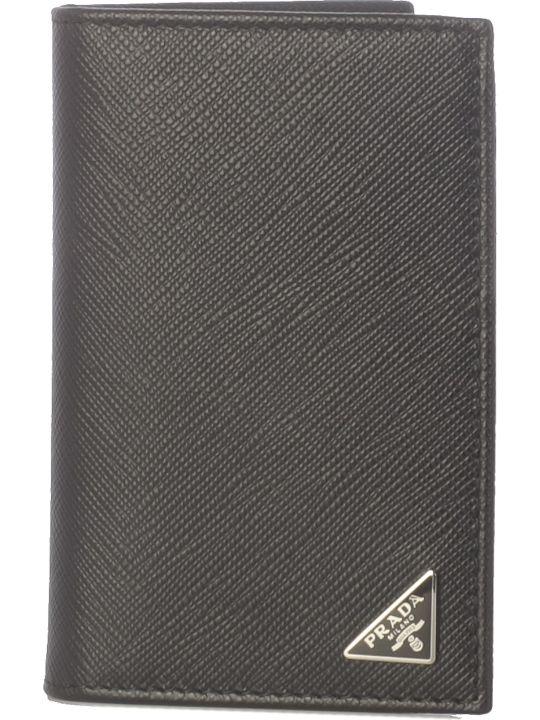 128782081d53 Prada Prada Embossed Logo Detail Bifold Wallet - Baltic - 10930735 ...