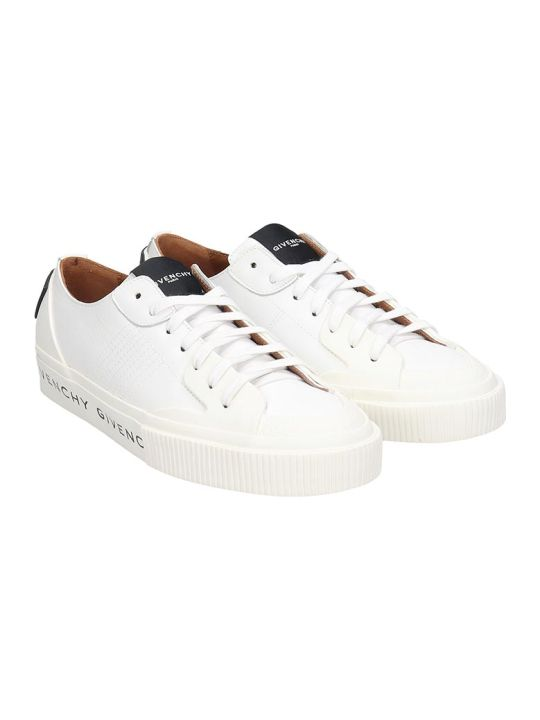 Givenchy Tennis Light Sneakers In White Leather
