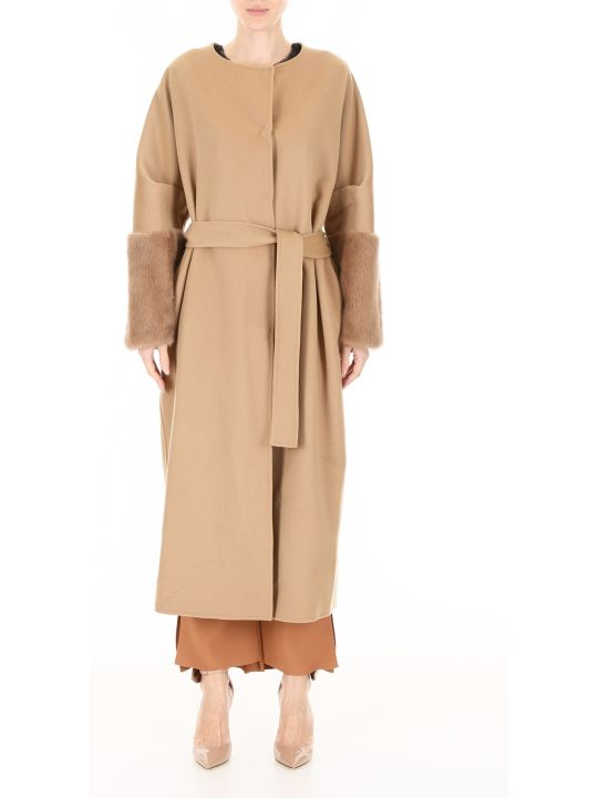 Ava Adore Wool And Mink Fur Coat