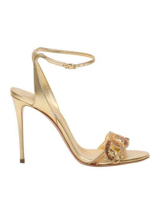 Casadei Golden Sandals