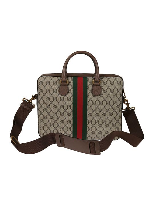 Gucci Web Checked Shoulder Bag