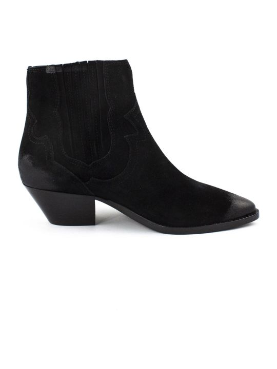 Ash Black Falcon Ankle Boots