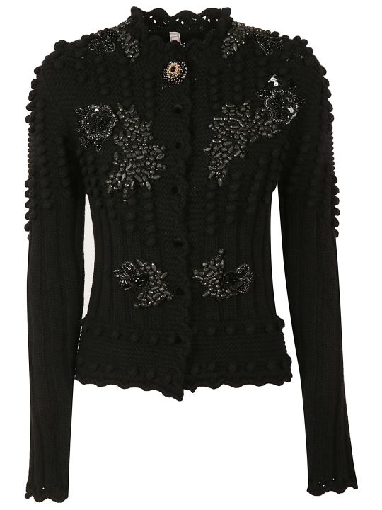 Antonio Marras Ribbed And Embellished Cardigan