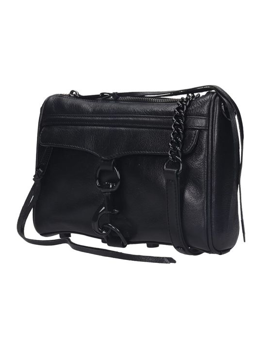 Rebecca Minkoff Mini Mac Clutch In Black Leather