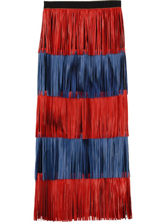 Caban Romantic Fringed Tiered Skirt