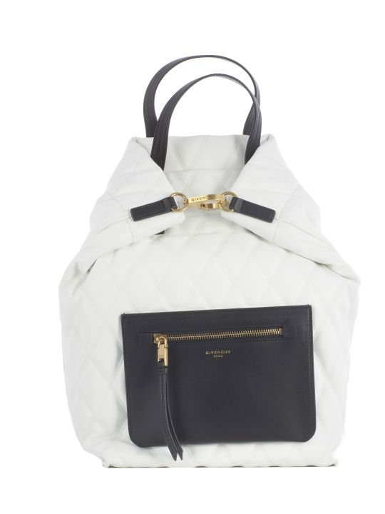 Givenchy Duo S Quilted Backpack - Gold Details