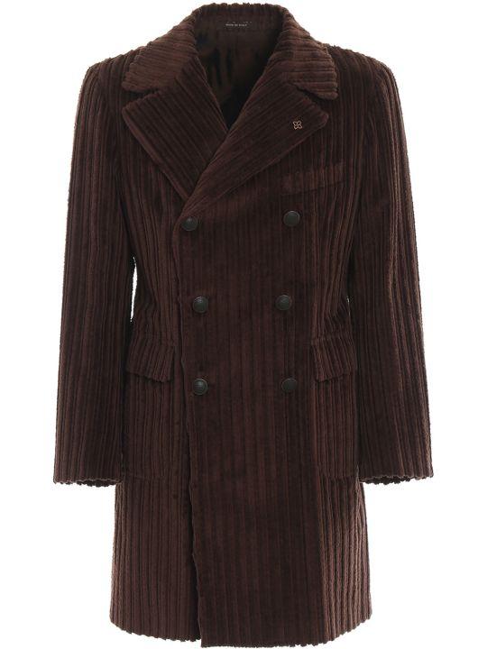 Tagliatore Double Breasted Velvet Coat