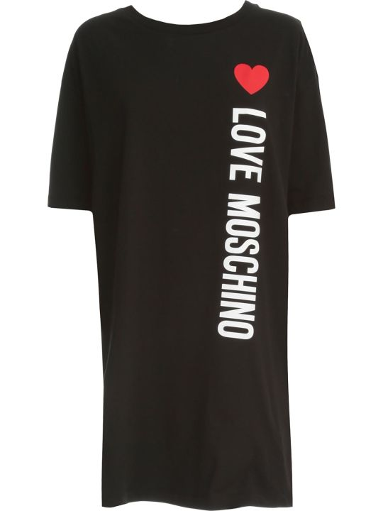 Love Moschino Dress S/s Cotton W/written
