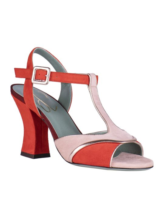 Paola D'Arcano Color Blocked Sandals