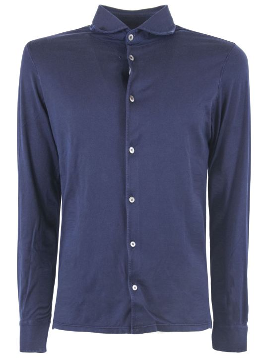 Fedeli Blue Cotton Shirt