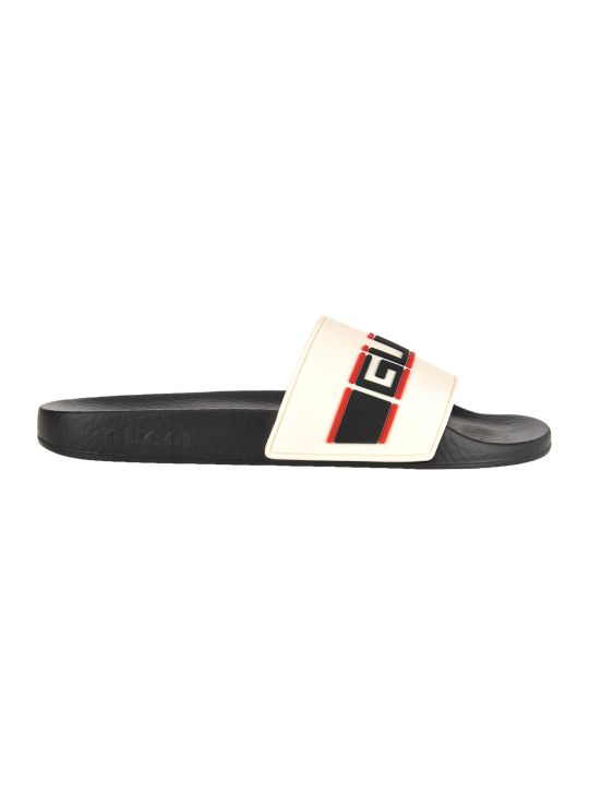 Gucci Stripe Rubber Slide Sandals