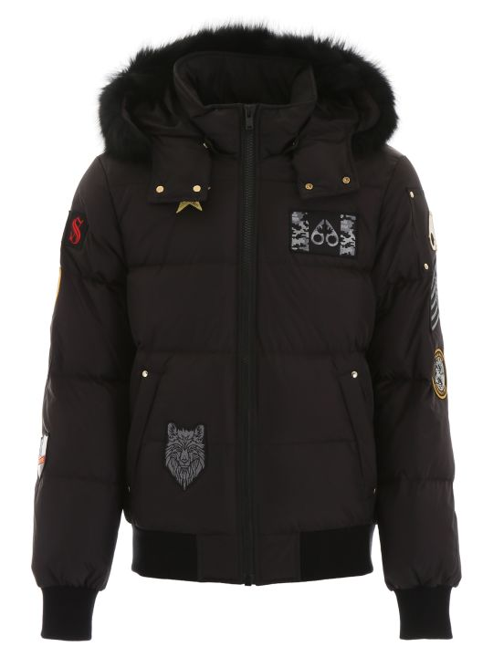 Moose Knuckles Colinton Bomber Jacket With Fur