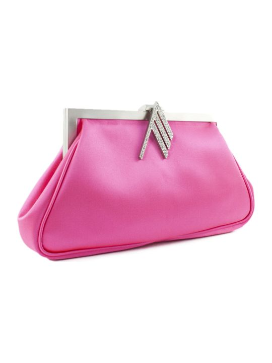 The Attico Handbag In Fuchsia Fabric
