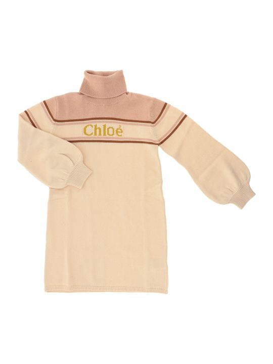 Chloé Abito Tricot Pink Ice