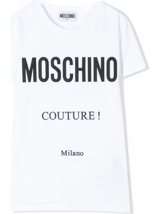 Moschino White Cotton T-shirt