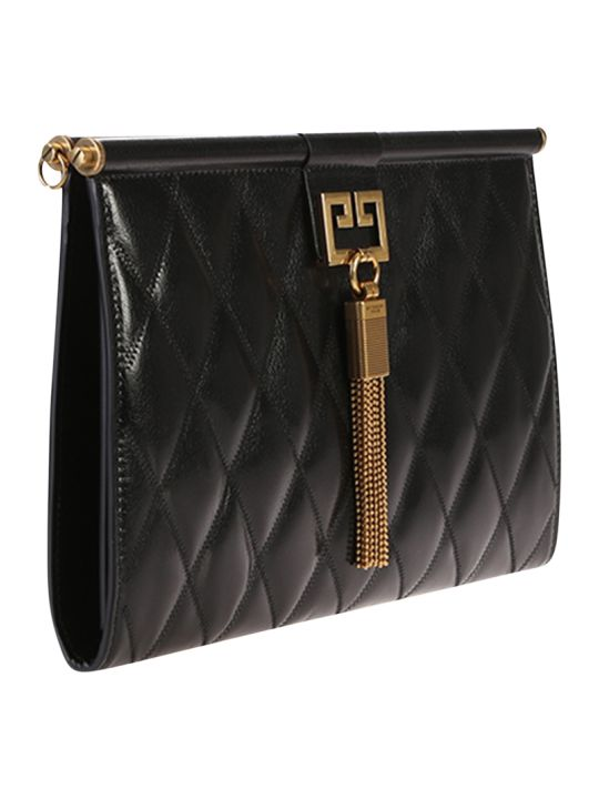 Givenchy Black Medium Gem Quilted Bag