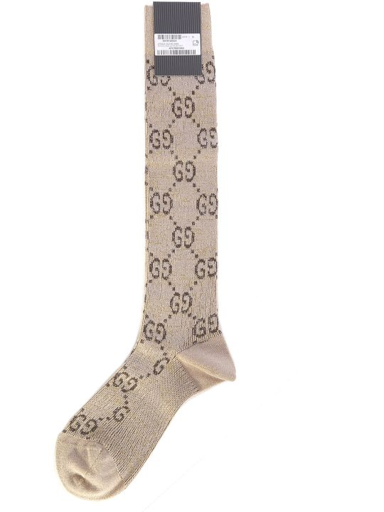 Gucci Logo Lurex Socks