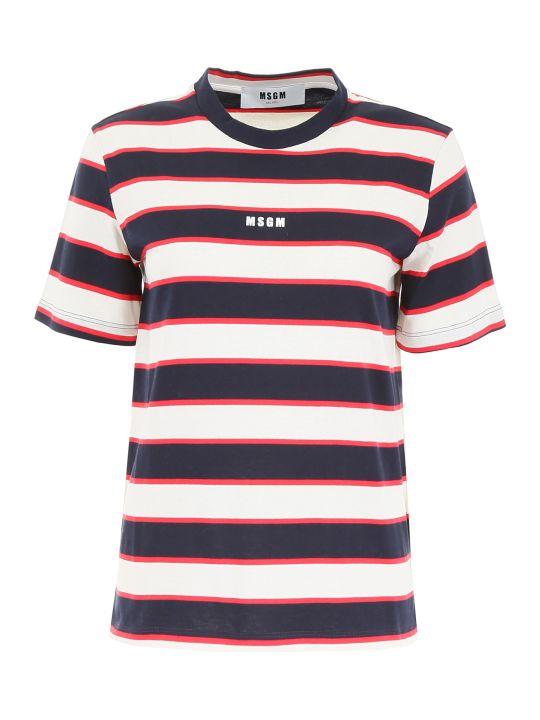 MSGM Striped T-shirt