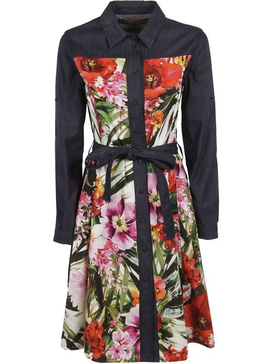 Blumarine Floral Shirt Dress