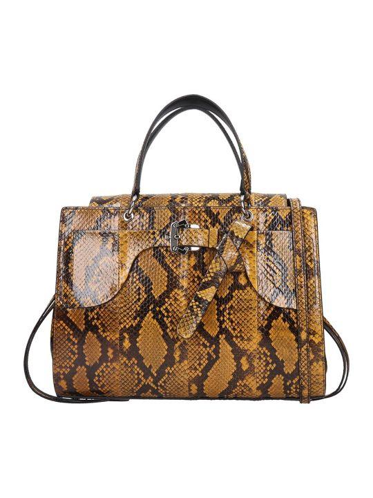 Paula Cademartori Margareth  Hand Bag In Brown Leather