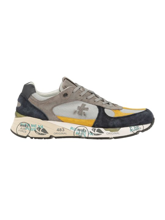 Premiata Leather And Tech Fabric Sneaker