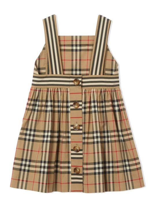 Burberry Beige Cotton Vintage Check Dress