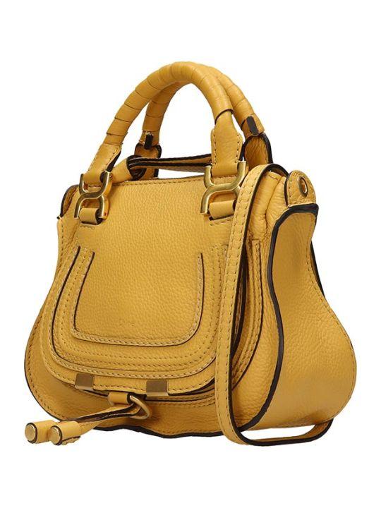Chloé Mini Mercie Shoulder Bag In Yellow Leather