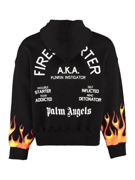 Palm Angels Firestarter Cotton Hoodie