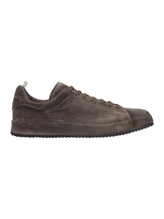 Officine Creative Ace Lux Sneakers In Grey Suede