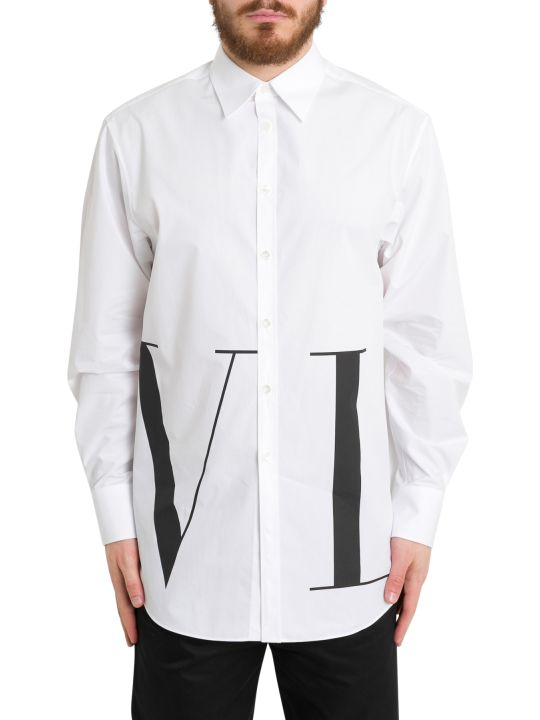Valentino Vltn Poplin Oversize Shirt