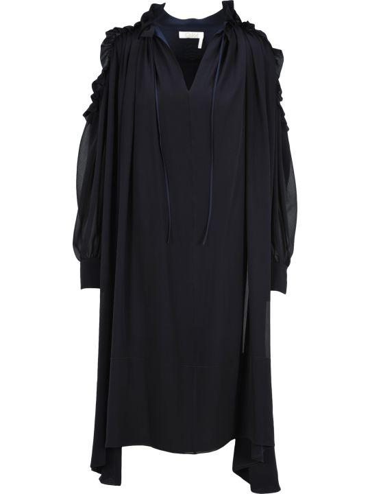 Chloé Chloe' Long Rouffle Dress