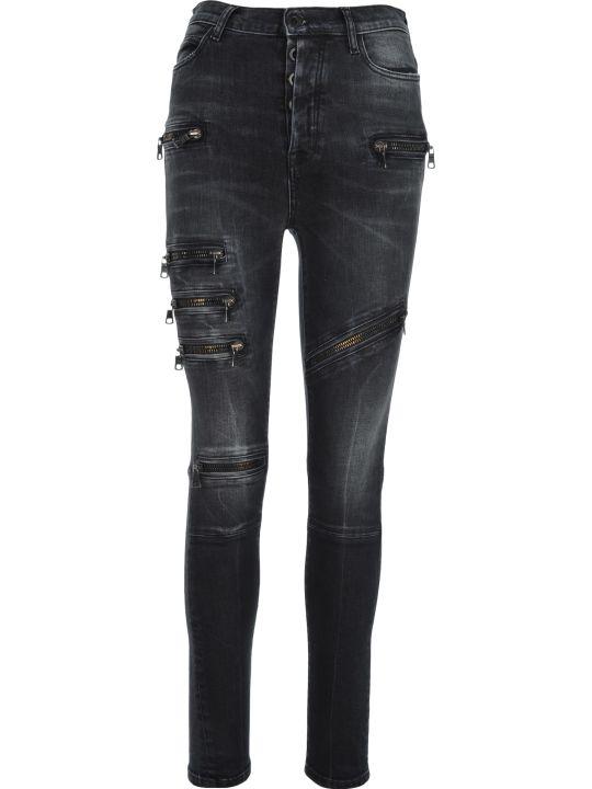 Ben Taverniti Unravel Project Unravel Multi Zip Skinny Jeans