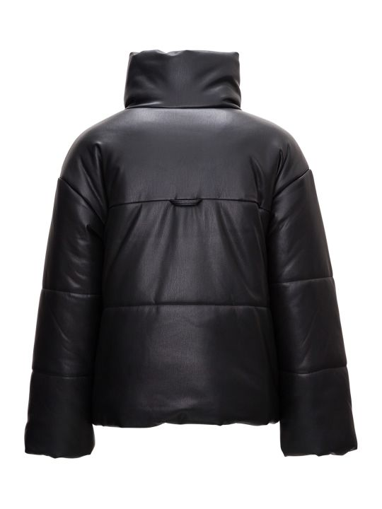 Nanushka Quilted Puffer Jacket In Vegan Leather