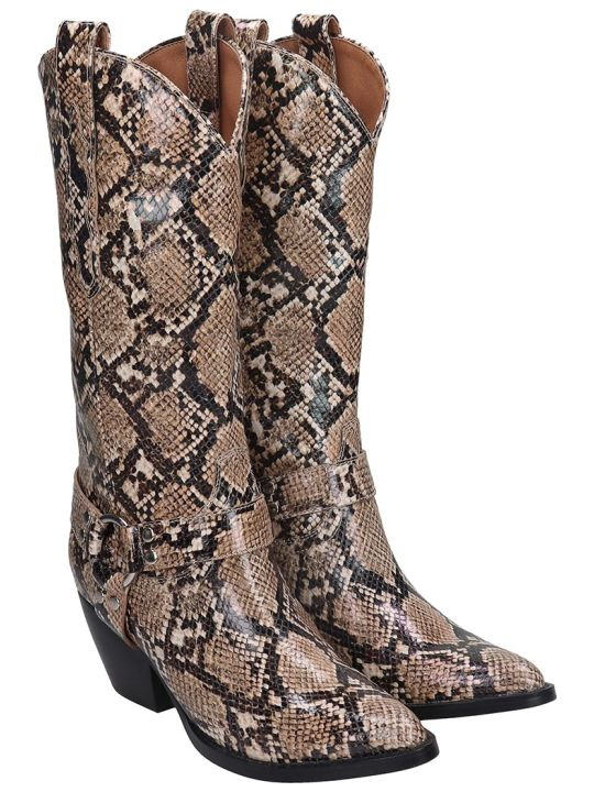 Jeffrey Campbell Armon Texan Boots In Animalier Leather