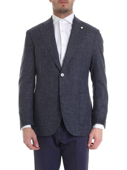 Luigi Bianchi Mantova Textured Blazer