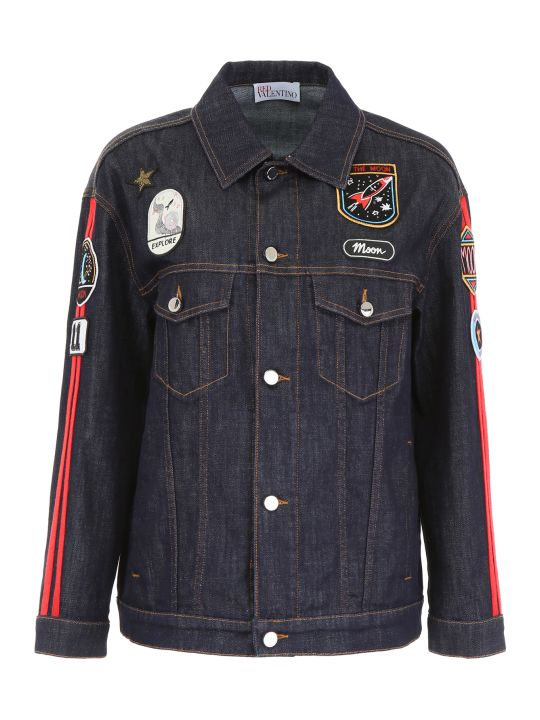 RED Valentino Denim Jacket With Patches