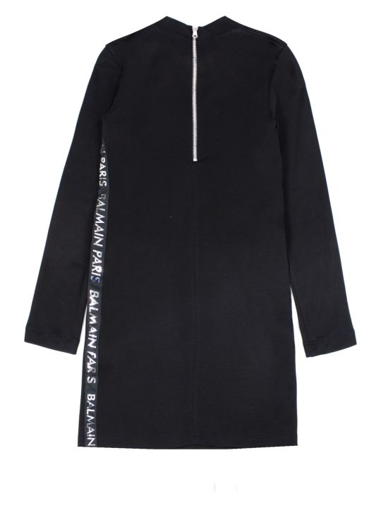 Balmain Black Cotton Blend Dress