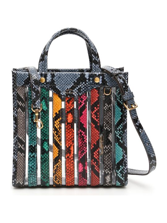 Anya Hindmarch Multi Stripes Mini Tote Bag